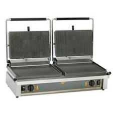 Equipex DIABLO Grooved Surface Double 208/240V Panini Grill
