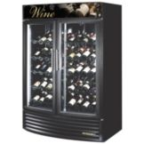 True® Glass Door Radius Front Wine Merchandiser, 49 Cubic Ft