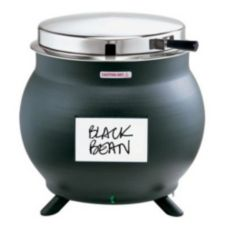 Server 7 Qt. Kettle Shaped Soup Warmer, Black, KS 84290