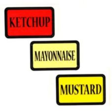 Server Condiment Pump Label Set