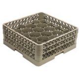 Vollrath TR11GA Traex Beige 20 Comp. Glass Rack w/ 2 Hexagon Extenders