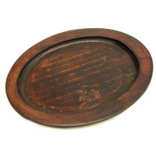 Tomlinson 1016236 Pecan Finish Oval Wood Underliner w/o Skillet Notch