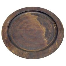 "Tomlinson 1016243 Walnut Finish 10"" Round Wood Underliner"
