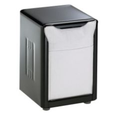 San Jamar® H985BK Black Low Fold Table-Top Napkin Dispenser