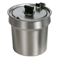 Star® SSB-4H Stainless Steel 4 Qt. Inset Bowl with Hinged Lid