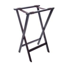 "Carlisle® C3620W11 30"" Walnut Wood Tray Stand"