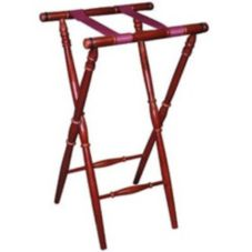 "Old Dominion TTS-5 Mahogany Finish Hardwood 30-1/4""H Turned Tray Stand"