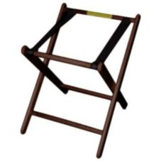 "Old Dominion A-2 Walnut Finish Hardwood 24"" High Infant Carrier Stand"