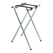 "Central Specialties 31""H Deluxe Chrome Tubular Steel Tray Stand"