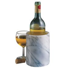 Come Along MARBLE-COOLER-WHITE Iceless White Marble Wine Cooler