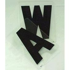 "Solid Black 8"" Letter T Readerboard"