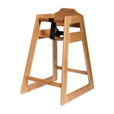 Old Dominion Mahogany Finish Oak High Chair
