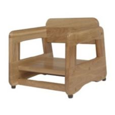 Old Dominion Mahogany Finish Red Oak Booster Seat