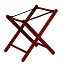 "Old Dominion A-5 Mahogany Finish Hardwood 24"" High Baby Seat Stand"