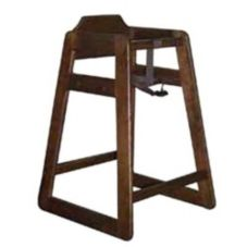 Old Dominion S-2 Walnut Finish Hardwood Oak High Chair
