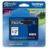 "Brother BRTTZE335 White On Black 1/2"" TZ Label Tape"