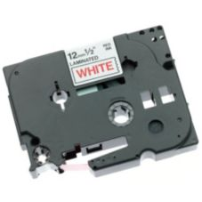 "Brother 917879 Red on White 1/2"" Tape Cassette for PT340 / PT540"