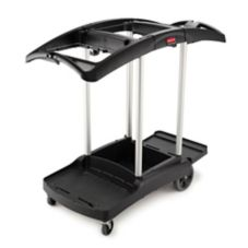 Rubbermaid® FG9T7200BLA High Capacity Black Janitor Cart