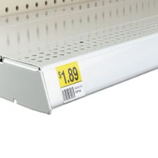 "White Label Holder w/Guide Bar, 47-5/8"" x 1-1/4"""