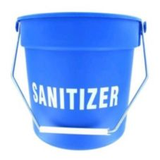 Blue Plastic Imprinted 10 Qt Bucket