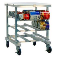 New Age 1237 Aluminum Can Storage Rack for (54) #10 or (72) #5 Cans