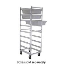 New Age Industrial 1481 Full Height Mobile Poly Box Rack w/ Open Sides