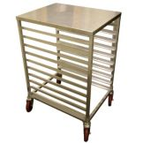 Win-Holt® AL-1810/H/SS Half-Size 10-Bun Pan Rack with S/S Top
