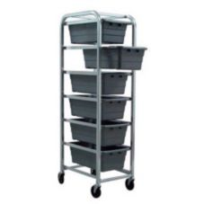 New Age 1263 HD Aluminum 6-Shelf Lug Dolly with Platform Casters
