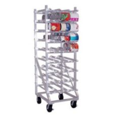 Aluminum Can Storage Rack, Holds 162 #10 Cans or 216 #5 Cans