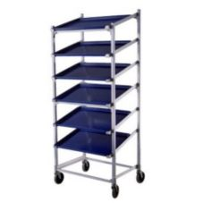 """New Age 1137 Slanted Mobile Display Rack for Seven 18 x 26"""" Pans"""