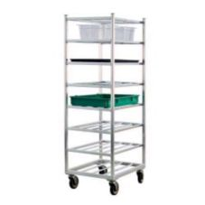 Mobile Universal Cart w/ Open Frame, Eight Shelves