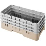 Cambro HBR712184 Beige Half Size Base Rack with 3 Extenders - 3 / CS