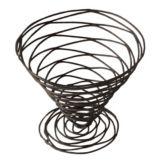 """American Metalcraft BNB7 Black 7"""" Birdnest Wire Basket"""