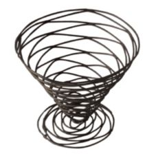 "American Metalcraft Black 7"" Birdnest Wire Basket"