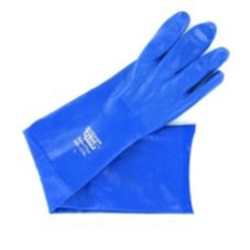 "Solva-Gard Superflex Large Blue 12"" Nitrile-Coated Glove"