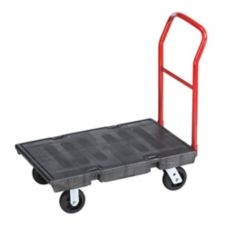 Rubbermaid® FG440300BLA Black 1-Handle 500 lb Platform Truck