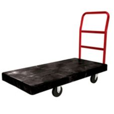 "Rubbermaid® FG444100BLA Black 1-Handle HD 46"" Platform Truck"