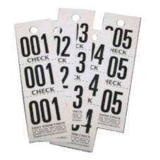 Premier Southern Ticket COAT CHECK 3 White Coat Room Check Paper Set