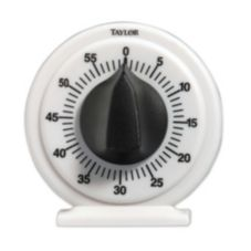 Taylor® Precision White Mechanical 60 Minute Timer