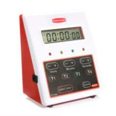Rubbermaid® FGDT2488  Red 4-Function 24 Hour Digital Timer