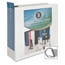 """Business Source BSN28444 4"""" Slanted Ring Presentation Binder"""