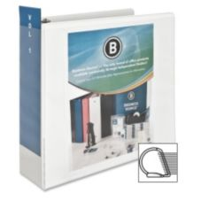 "Business Source BSN28443 3"" Slanted Ring Presentation Binder"