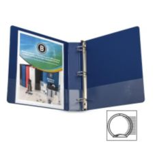 Business Source BSN28551 Dark Blue Letter Size 3-Ring Binder