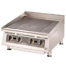 "Star® Mfg. Ultra-Max™ 24"" Lava Rock Gas Char-Broiler"