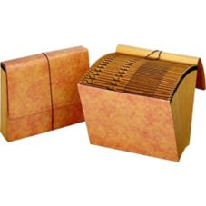 "Accordian File w/ Flap Closure, 12"" x 10"""