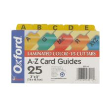 Staples Advantage ESS03514 Alphabet Divider for Index Cards - 1 / ST