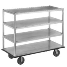 "Aluminum 4-Shelf Queen Mary Cart, 62"" x 28"" x 66"""