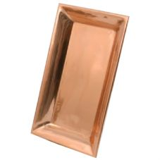 Dover Metals P-980B Large Rectangular Copper Mesa Platter - 1 / CS