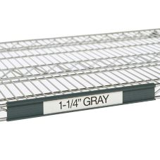 "Metro® 13"" Gray Label Holders for Super Erecta® Shelves"