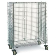 "Metro SEC53DC Chrome 27-1/4"" x 40-3/4"" Mobile Security Cart"